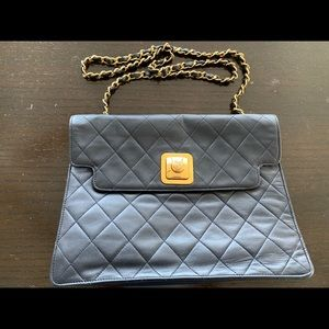 Chanel Vintage Quilted CC-Lock Flap Bag